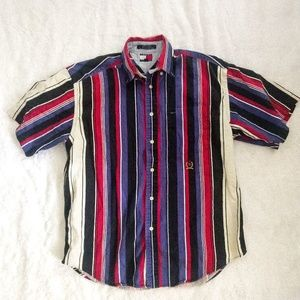Vintage 90s Striped Tommy Hilfiger Button Down